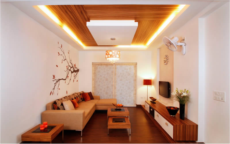False ceiling pop designers pop interiors works for walls for Interior house design ceiling